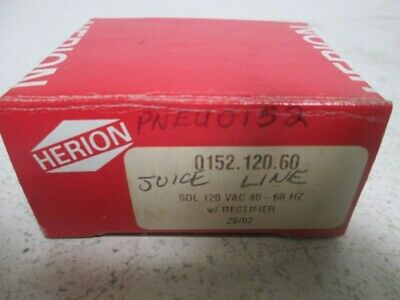Herion 0152 120 Vac 40-60Hz Coil * New In Box *