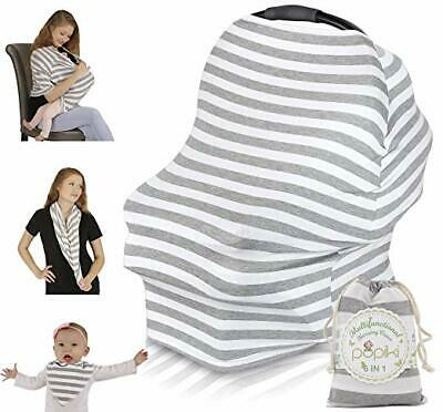 Multipurpose Nursing Cover – Soft, Stretchy, Secure Breastfeeding Cover,Car Seat