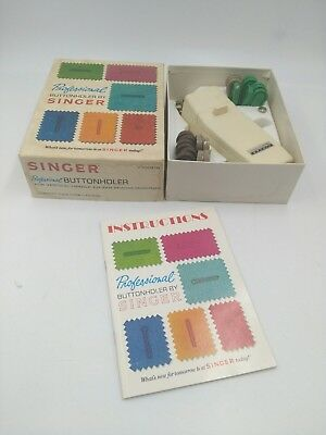 Singer Professional Buttonholer V102878--W/ Templates, Accessory Plate & Manual