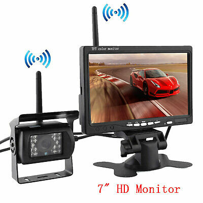 """Built-in Wireless Rear View Backup Camera + 7"""" TFT LCD Monitor For RV Truck Bus"""