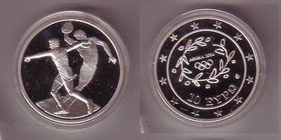 10 Euro Silber Münze Griechenland Olympiade Diskuswerfer 2004 PP (106877)