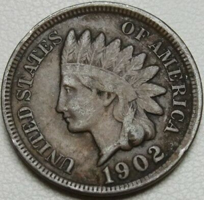 1902 1C Indian Cent, IHC, Indian Head Penny, Copper, #10490