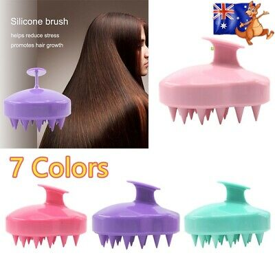 Shampoo Scalp Head Shower Massage Massager Cleaning Scrub Hair Brush Comb 1PC DH