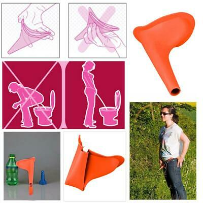Women Female Portable Urinal Travel Outdoor Stand Up Pee Urination Device Orange
