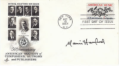 MARVIN HAMLISCH (1944-2012) hand signed 1964 FDC - autographed - ASCAP