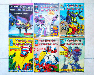 TRANSFORMERS COMIC UK/G1 - Mixed Lot Issues Marvel 1984 - 1987