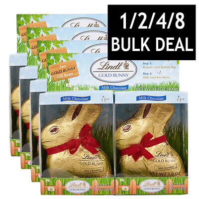 LINDT GOLD BUNNIES EASTER BUNNY MILK CHOCOLATE BUNNY CHOC SWEETS GIFT HUNT 200g