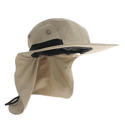Boonie Sun Flap Cap Outdoor Hunting Boating Fishing Snap Hat Brim Ear Neck Cover