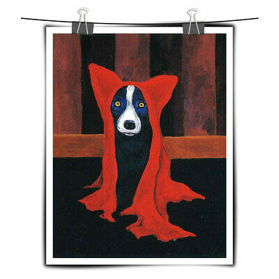 Blue Dog cartoon HD print canvas art painting home decor wall art picture 12X16