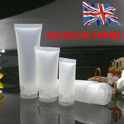 Empty Frosted Plastic Tubes Squeeze Cosmetic Cream Travel Bottle Container WC
