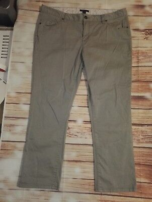 Tommy Hilfiger Boys Chino Style Trousers Light Grey Embroidered Logo Size M