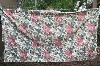 """Jacquard Damask? Floral 96""""L x 57""""W Upholstery Tablecloth Craft Fabric Remnant"""
