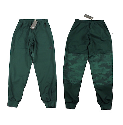 New Adidas Mens Medium Spell Out Joggers Jogger Pants Green Camouflage Polyester