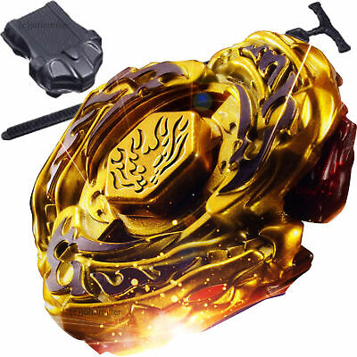 Fusion Beyblade Masters Metal GOLD L-DRAGO DESTROY DF105LRF w/ Power Launcher
