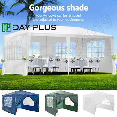 3m x 4m 6m White Blue Waterproof Outdoor Garden Gazebo Party Tent Marquee Canopy