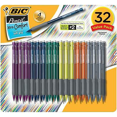 BIC Matic Grip Mechanical Pencil HB2 0.7mm Happy School Tuff Kids Economy 32Ct