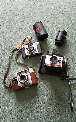 3 × Cameras and 1 Vivitar Automatic Extension Tube Spares