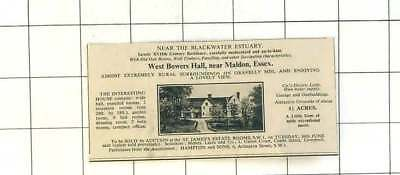 1936 West Bowers Hall Near Maldon Essex Nine Bedrooms 1 1/2 Acres For Sale