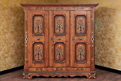 Voglauer Anno 1700 Farmhouse Wardrobe Wardrobe 3-doors Cottage Hallway Cupboard