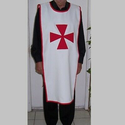 White Color Red Templar Medieval Tunic Reenactment Style Best Design Nice Color