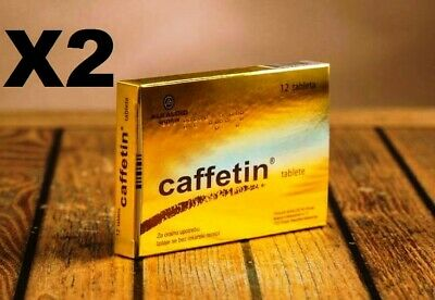 x2 Packs of Caffetin Tablets for Muscle Soreness - Headaches - Fever