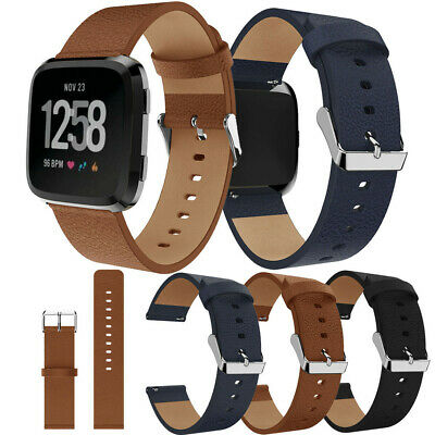 Luxury Leather Bands Replacement Accessories Wristband Straps For Fitbit Versa