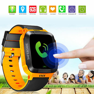 Anti-lost Kids GPS Tracker SOS Call Smart Watch W/Lighting For Android iOS Gifts