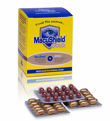 MacuShield Gold Food Supplement Capsules New AREDS formula 1,2, 3 months supply