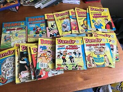 Beano & Dandy mix of Comic Library 1980's  ~ 42 issues ~ Vintage job lot