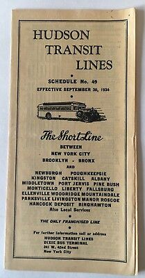 SHORT LINE HUDSON Transit Lines bus public timetable lot New