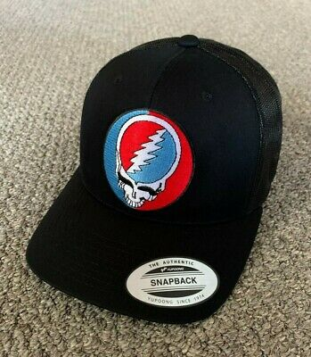 Grateful Dead Hat Steal Your Face SnapBack Trucker Mesh Handcrafted Cap