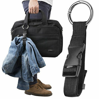 Anti-Cherf Black Luggage Strap/Jacket holder/gripper/Add-A-Bag/Handbag Clip AU