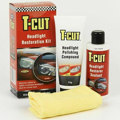T-Cut Headlight Restoration Paintwork Scratch Remover Car Polish Kit