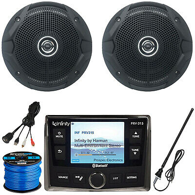 "Infinity PRV-315 Receiver, 2 x 6.5"" Speakers (Black), Antenna, Accessories"