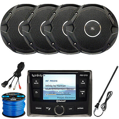 "Infinity PRV-315 Receiver, 4 x 6.5"" Speakers (Black), Antenna, Accessories"