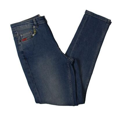 French Connection Womens Blue Denim Destroyed Straight Leg Jeans 4 BHFO 1923