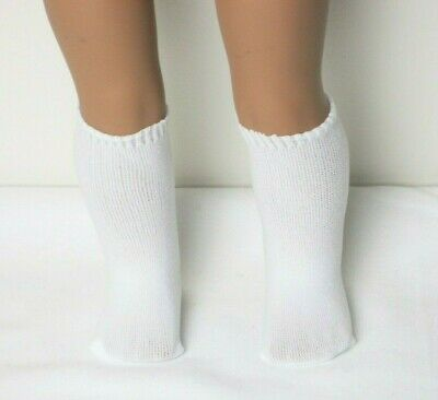 LOT OF 12 PAIRS WHITE LACE TRIMMED SOCKS FIT AMERICAN GIRL DOLLS