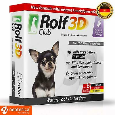 Rolf Club 3D FLEA Collar for Dogs - Flea and Tick Prevention for Dogs - Dog Flea