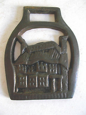 Horse Saddle Brass Medallion Vintage Bridle Ornament - Cottage