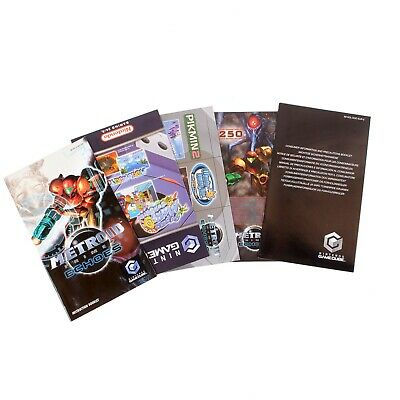 Metroid Prime 2 Echoes Manual & Inserts For Nintendo Gamecube