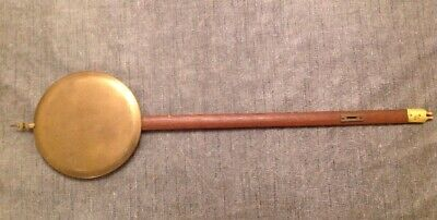 Antique Wall Clock Pendulum 247g Brass Face 140mm Wood Rod 550mm Long