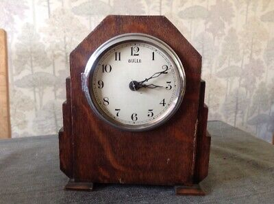Antique Bulle Clock Art Deco Stepped Case To Restore 19x16x9cm