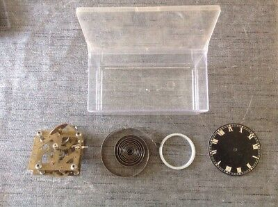 Antique Clock Movement With Dial / Face For Spare Parts Repair