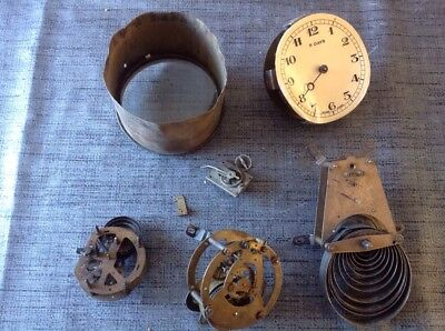 Collection Antique Clock Movements For Repair Or Spare Parts