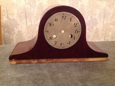 Antique Mantle Clock Case + Bezel Nelson Hat Style 36x20x13cm