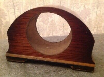 Antique Mantle Clock Case Solid Oak For Repair 20x13x7.5cm Aperture 95mm