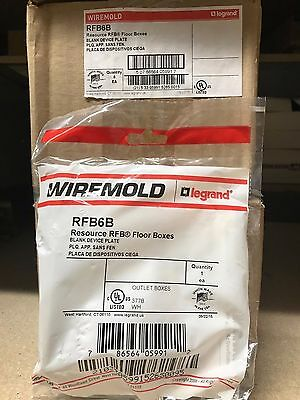 Wiremold RFB6B Blank Device Plate ** New In Box, Free Shipping **