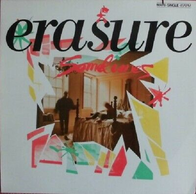 "12 inch Maxi Vinyl – Erasure – Sometimes (Cover Cut-Out) -  12"" ; 45 RPM - 1986"