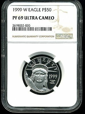 1999-W P$50 Proof Platinum .5 oz American Eagle PF69 Ultra Cameo NGC 2678032-020