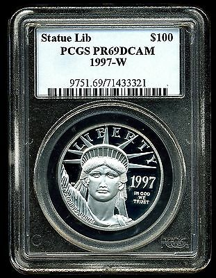 1997-W P$100 Proof Platinum 1 oz American Eagle PR69 DCAM PCGS